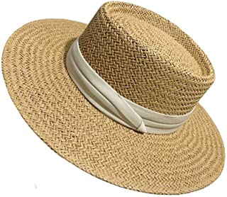 قبعة شمس Wxcgbtym ، قبعة قش طبيعية ، قبعة شمس واسعة حافة شاطئ النساء قبعة قبعة قبعة شمس للنساء قبعة شمس