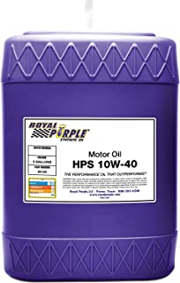Royal Purple 35140 HPS 10W-40 High Performance Street Synthetic Motor Oil with Synerlec - 5 gal.
