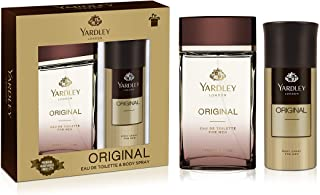 Yardley Original Perfumed Gift Set, Fresh Fragrance for Masculine Elegance, Eau De Toilette, 100ml + Body Spray 150 ml