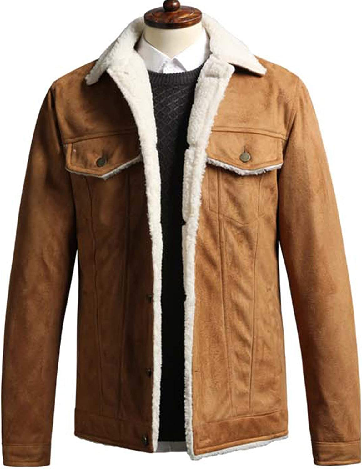 Mens Suede Directly managed store Mustang Jacket Casual Blazer S069 Jumper Hunting Ranking TOP13