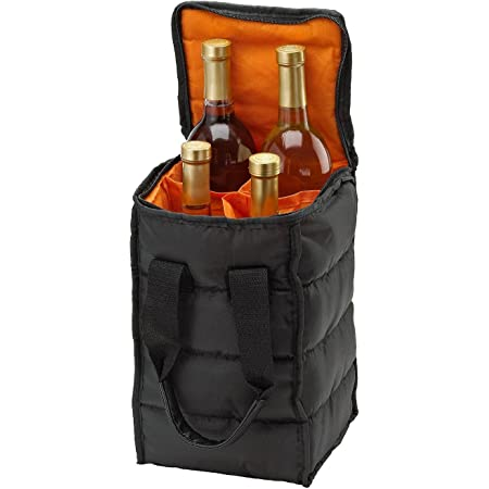 Amazon Com Opux 2 Bottle Wine Tote Carrier Insulated Wine Cooler Bag For Travel Picnic Byob Portable Wine Carrying Bag Padded Protection Shoulder Strap Corkscrew Opener Checker Black Bar Tools Drinkware