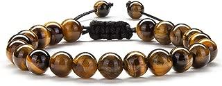 Men Women Gifts Bracelet Braided Rope Natural Tiger Eye Stone Yoga Bracelet Bangle-21018