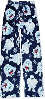 Bumble Mens Christmas Holiday Plush Minky Fleece Pajama Pants