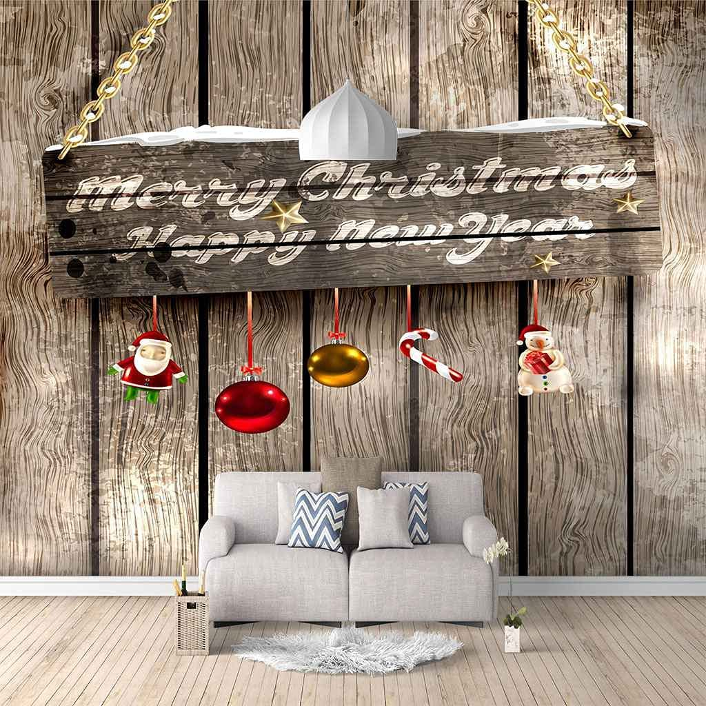 HWCUHL 3D Wall Stickers Raleigh Mall Mural Vintage Christmas Decoration Wallp Ranking TOP13