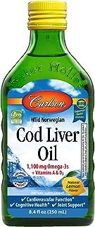 Carlson Cod Liver Oil, Norwegian, Natural, 1,100 mg Omega-3s, 250 mL
