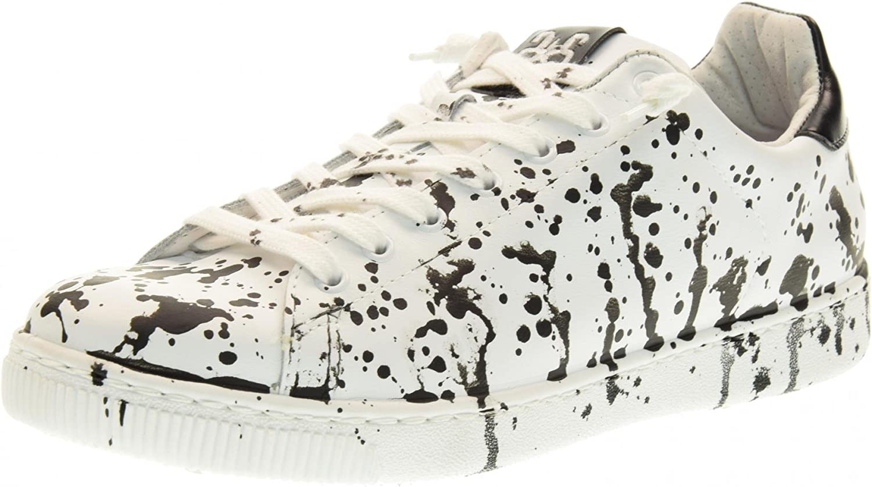 2 STAR man low sneakers 2SU 1464 WHITE   BLACK