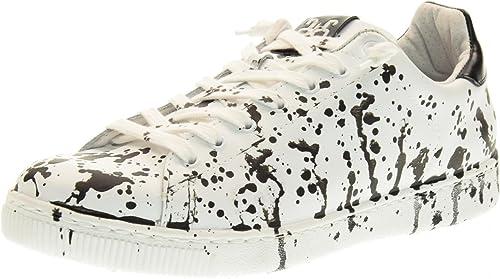 2 STAR Hombre Bajas Hauszapatos de Deporte 2SU 1464 blanco negro