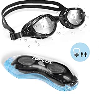 TOPLUS Swim Goggles, Goggles No Leaking Anti Fog UV...