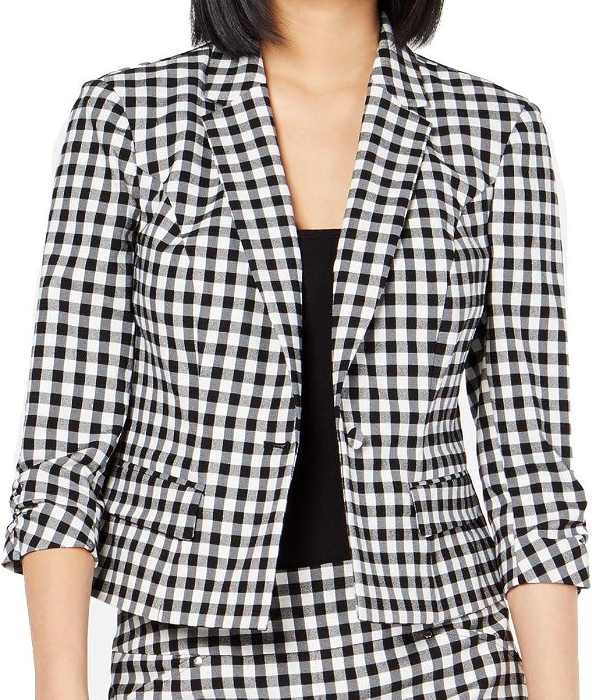 Inc Womens Work Wear Suit Separate One-Button Blazer
