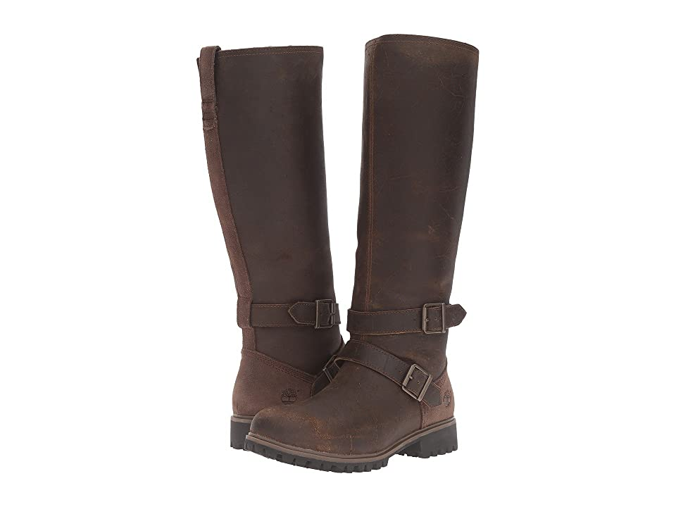 Timberland Wheelwright Tall Medium Shaft Waterproof Boot (Dark Brown Suede) Women