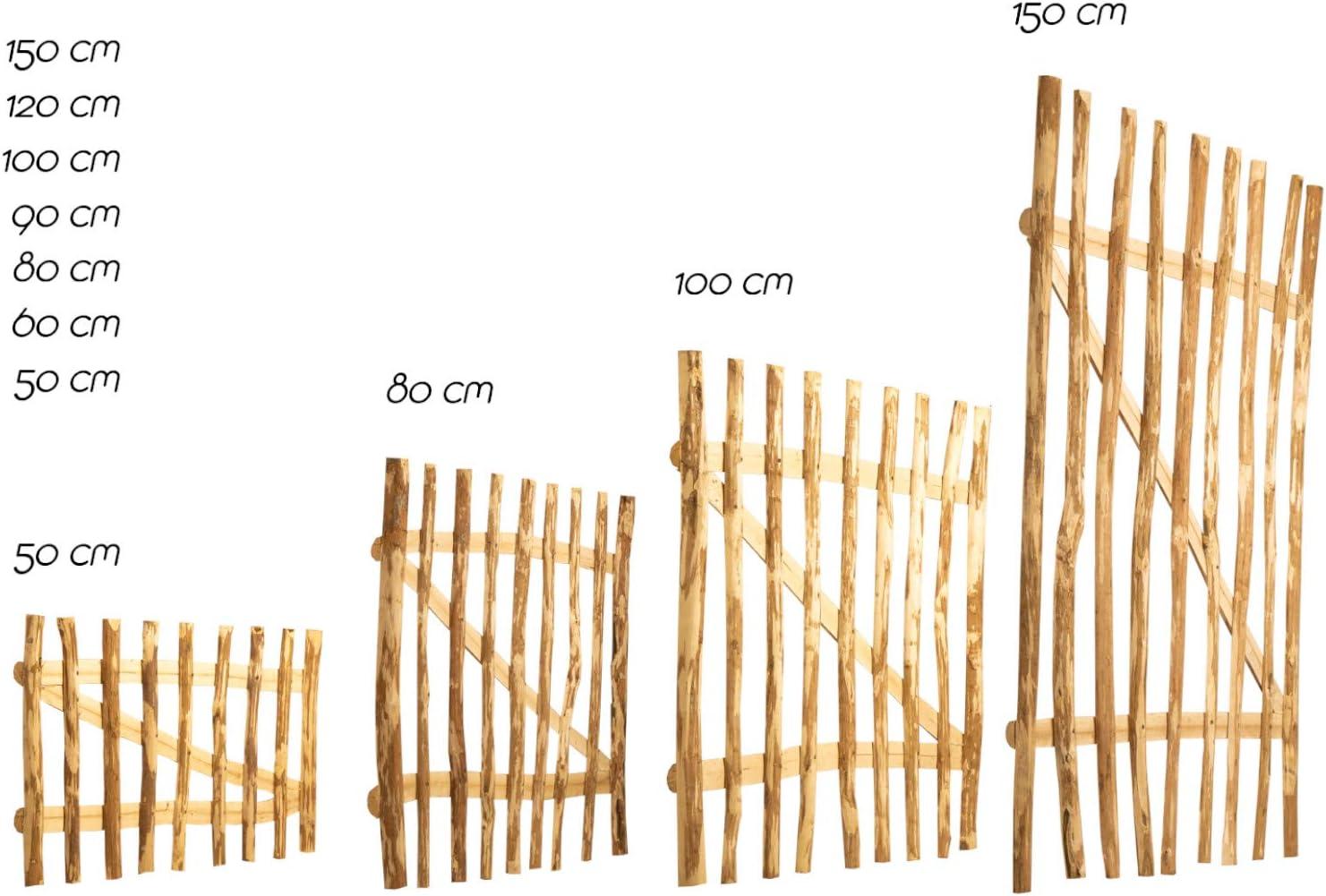 BOOGARDI/Puerta de jard/ín en 7/tama/ños de avellano,/valla para jard/ín valla para campesinos valla de casta/ño que incluyeaccesorios. valla de estacas en punta