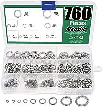 Keadic 760Pcs Spring Lock Washer Assortment Kit 304 Stainless Steel, 9 Sizes - M2 M2.5 M3 M4 M5 M6 M8 M10 M12