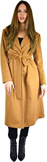 Cashmere Boutique: Women's Full Length Belted Coat in 100% Pure Cashmere (Color: Camel, Sizes: 2/4/6/8/10/12/14)