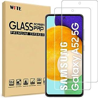 WFTE [2-pack skärmskydd för Samsung Galaxy A52 4G/5G, anti-repa, hög transparens, anti-fingeravtryck, bubbelfri, dammfritt...