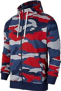 Nike Men's Sportswear Camo Club Fleece Full Zip-Up Hoodie BV3622