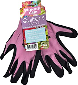 Wonder Grip Quilters Gloves Assorted Colors Large 1 Pair