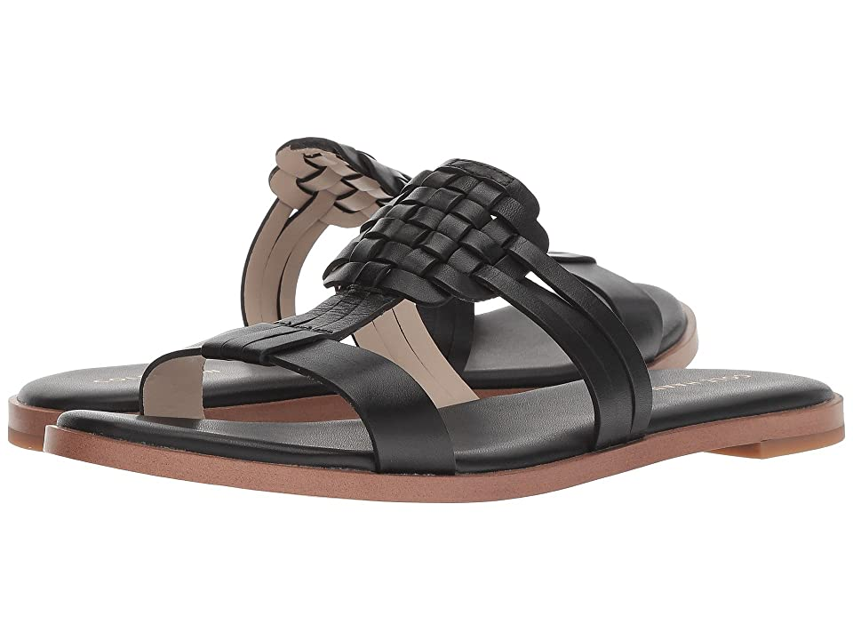 Cole Haan Findra Woven Sandal (Black Leather) Women