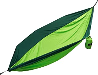 Equipped Outdoors Large Two Person Parachute Camping Hammock with Nautical Grade Tree Ropes