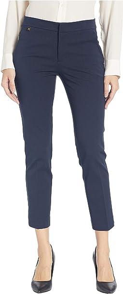 Cotton Twill Skinny Pants
