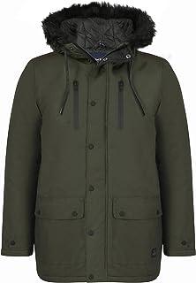 Tokyo Laundry Men's Carmine Faux Fur Hooded Zip Up Parka Jacket Size S-XL