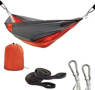 LETHMIK Outdoor Portable Camping Hammock, Travel Lightweight Nylon Hammock Easy Hanging Yard Backpacking Hiking Sleeping