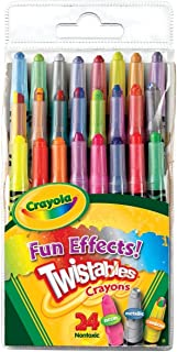 Crayola Fun Effects Mini Twistables Crayons, 24-Count,  2 pack