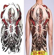 2 unids-Tatuaje japonés Geisha Femenino Tatuaje Temporal Espalda Grande Cuerpo Completo Etiqueta engomada del Tatuaje Impermeable 2pcs-23