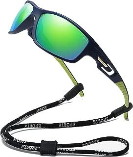 100 Classic Polarized Sports Sunglasses TR90 Unbreakable Frame for Men Women Running Cycling Fishing Golf Baseball