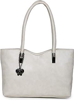 Butterflies Women Handbag (Cream) (BNS 0656CRM)