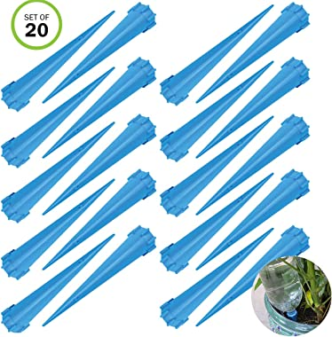 Evelots Plant/Flower Watering Tall Spikes-Plant Food-Bottle Screw-No Tool-Set/20