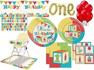 abc blocks birthday cake