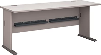 Bush Business Furniture Series A 72W Desk in Pewter and White Spectrum