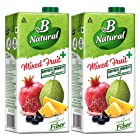 B Natural Mixed Fruit+ Juice, 1L (Pack of 2), Supports Immunity