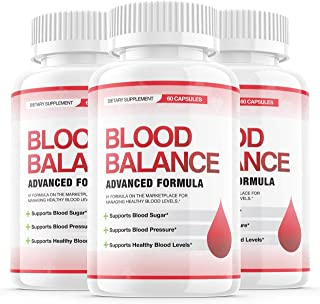 (3 Pack) Blood Balance Advanced Formula Pills, Blood Balance Advance Boost Capsules - Sugar Balance Supplement for High Bl...