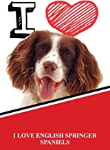 I Love English Springer Spaniels: Isometric DOT Paper Portrait Notebook 120 pages 6