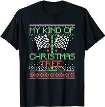 Funny Drag Racing Ugly Christmas Shirt Holiday Tree Shirt