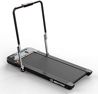 MAXFREE Folding Treadmill, 2 in 1 Under Desk Treadmill, Portable Walking and Running Machine with APP, Remote Control, Blu...