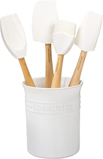 Le Creuset of America Craft Series 5Piece Utensil Set with Crock - White