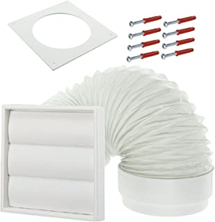 Spares2go Exterior Wall Venting Kit For Bush Tumble Dryers (White, 4