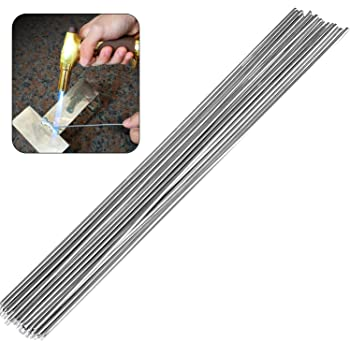 Food Linkhood 100-Pack Universal Low Temperature Aluminum Welding Cored Wire for Electric Power Chemistry 12.99In0.06//0.08In isilky Aluminum Welding Rods Silver