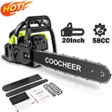 attempting 58CC Gas Engine 20 Inch Guide Board Chainsaw 2 Stroke Gasoline Powered..