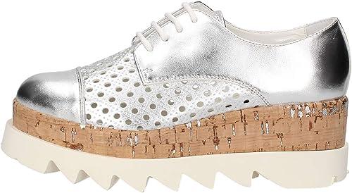 Cult , Chaussures de Ville à Lacets pour Femme Argenté Argenté Blanc