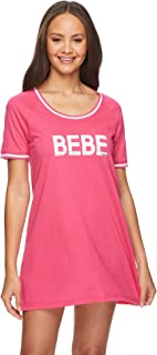 bebe Womens Short Sleeve Lounge Pajama Dorm Sleepshirt Nightgown