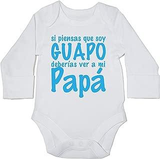 Hippowarehouse Si Piensas Que Soy Guapo Deber/ías Ver a mi Abuelo Body Manga Larga Bodys Pijama ni/ños ni/ñas Unisex