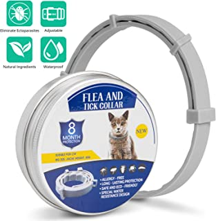 Tyhocent Pet Collar 8 Months Protection Length Adjustable, Safe and Waterproof Dogs Cats Control Collar