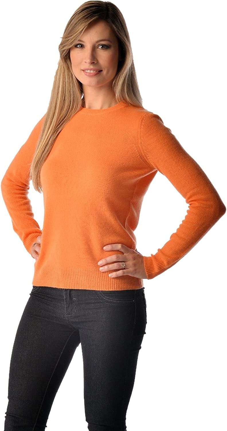 Pure Cashmere VNeck Spring Sweater for Women (Camel, Large)