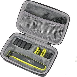 co2crea Hard Travel Case for Philips Norelco OneBlade QP2520/90 / QP2630/70 / QP2520/72 Face Body hybrid electric trimmer shaver (Black Case)