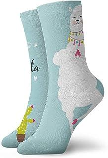 Novedad Divertido Crazy Crew Sock Yoga Llama Impreso Sport Athletic Calcetines Calcetines de regalo personalizados de 30 cm de largo
