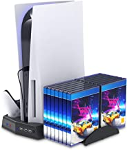 eWINNER Multifuncation Console Vertical Stand, 2 Cooling Fan, 2 controller Dock, Game Rack Storage Organizer USB output Po...