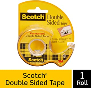 Scotch Brand Double Sided Tape, Strong, Photo-Safe, Engineered for Holding, 3/4 x 300 Inches, 1 Dispensered Roll